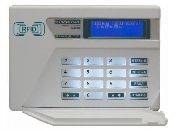 SLK-300 Клавиатура для S632-2GSM с графическим ЖКИ, 16 клавиш, белая подсветка, встроенный считыватель