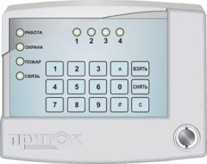 Приемно-контрольный прибор Приток-А КОП-02